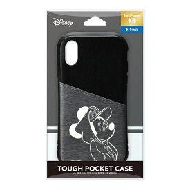PGA iPhone XR用 タフポケットケース PG-DCS693MKY ミッキーマウス/ブラック
