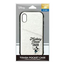 PGA iPhone XR用 タフポケットケース PG-DCS694MKY ミッキーマウス/グレー