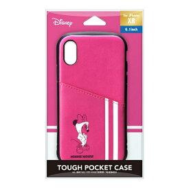 PGA iPhone XR用 タフポケットケース PG-DCS695MNE ミニーマウス