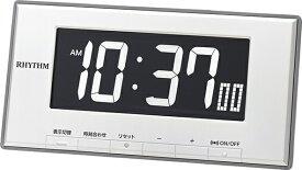 リズム時計 RHYTHM デジタル目覚まし時計 ルーク デジットD78 白 8RDA78SR03 [デジタル]