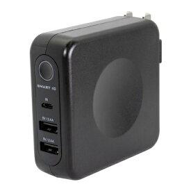 OWLTECH オウルテック ACコンセント付 6700mAh モバイルバッテリー OWL-LPBAC6701-BK ブラック [6700mAh /2ポート /充電タイプ]