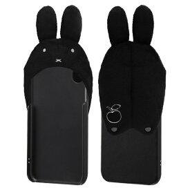 イングレム Ingrem iPhone XR 『ミッフィー』/きゃらぐるみケース IC-BP18GRMB/MF02 フェイス_ブラック