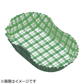 アヅミ産業 Azumi-sangyo 紙カップ ココケース小判型(500枚入) 11号 緑 <XAZ3813>[XAZ3813]