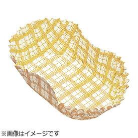 アヅミ産業 Azumi-sangyo 紙カップ ココケース小判型(500枚入) 11号 黄 <XAZ3815>[XAZ3815]