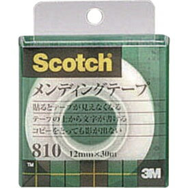 3Mジャパン スリーエムジャパン 3M メンディングテープ 12mmX30m 巻芯径25mm 810-1-12C