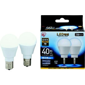 アイリスオーヤマ IRIS OHYAMA IRIS LED電球2個セット E17広配光タイプ 40形相当 昼白色 LDA4N-G-E17-4T52P