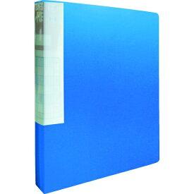 トラスコ中山 TRUSCO PP クリアファイル A4タテ 40P ブルー TCF440-B
