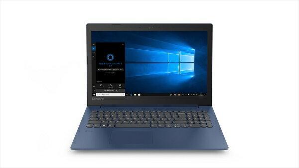 レノボジャパン Lenovo 81DE02NPJP ノートパソコン ideapad 330 ミッドナイトブルー [15.6型 /intel Celeron /HDD:1TB /メモリ:4GB /2019年4月モデル][81DE02NPJP]