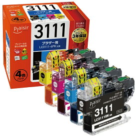 プレジール plaisir PLE-BR3111-4P 互換プリンターインク ブラザー用 プレジール(ブラザー用) 4色セット[PLEBR31114P]【wtcomo】