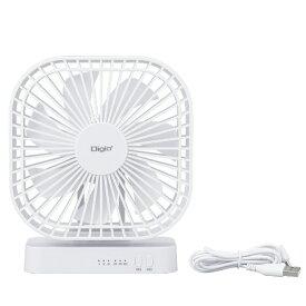 ナカバヤシ Nakabayashi USB扇風機 マグネット付き ホワイト[UA051W]