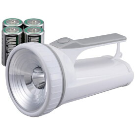 オーム電機 OHM ELECTRIC 3W LED強力ライト LED-P03W-P [LED /単1乾電池×4 /防水]