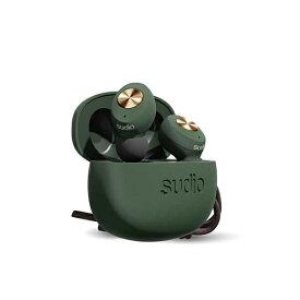 SUDIO スーディオ フルワイヤレスイヤホン TOLVグリーン SUDIO(スーディオ) TOLV-GR [リモコン・マイク対応 /ワイヤレス(左右分離) /Bluetooth][TOLVGR]