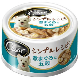 マースジャパン シーザー シンプルレシピ 煮まぐろと五穀 80g
