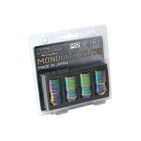 協永産業 MN01N-4P 貫通ナット Kics MONOLITH T1/06 M12XP1.5 Neochro 4pcs ネオクロ