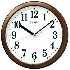 セイコー SEIKO 掛け時計 【スタンダード】 茶メタリック KX256B [電波自動受信機能有]