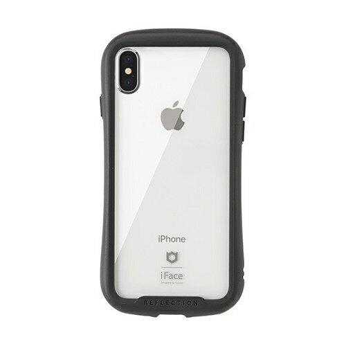 HAMEE ハミィ [iPhone XS/X専用]iFace Reflection強化ガラスクリアケース 41-907153 ブラック