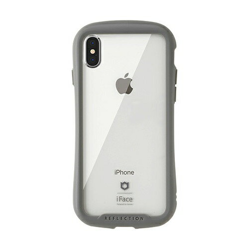 HAMEE ハミィ [iPhone XS/X専用]iFace Reflection強化ガラスクリアケース 41-907160 グレー