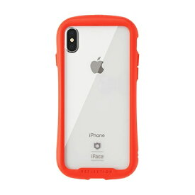 HAMEE ハミィ [iPhone XS/X専用]iFace Reflection強化ガラスクリアケース 41-907184 レッド