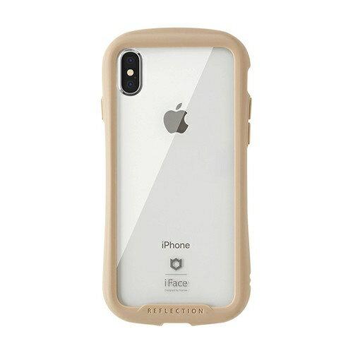 HAMEE ハミィ [iPhone XS/X専用]iFace Reflection強化ガラスクリアケース 41-907191 ベージュ