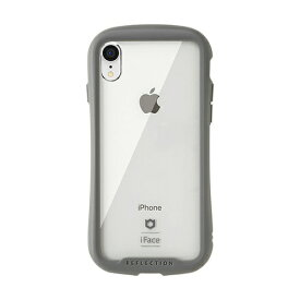 HAMEE ハミィ [iPhone XR専用]iFace Reflection強化ガラスクリアケース 41-907214 グレー