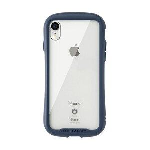 HAMEE ハミィ [iPhone XR専用]iFace Reflection強化ガラスクリアケース 41-907221 ネイビー