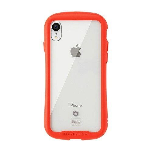 HAMEE ハミィ [iPhone XR専用]iFace Reflection強化ガラスクリアケース 41-907238 レッド