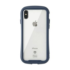 HAMEE ハミィ [iPhone XS Max専用]iFace Reflection強化ガラスクリアケース 41-907276 ネイビー