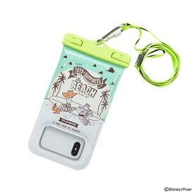 HAMEE ハミィ [各種スマートフォン対応]ディズニー/ピクサーキャラクター/DIVAID フローティング防水ケース 566-908006 蓄光/ウッディ&バズ