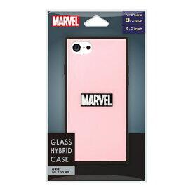 PGA iPhone 8/7/6s/6用 ガラスハイブリッドケース PG-DCS723PK ロゴ/ピンク