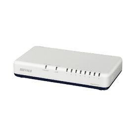 BUFFALO バッファロー ギガ スイッチングハブ Giga LAN HUB 8ポート 背面マグネット LSW6-GT-8EP/WH ホワイト[LSW6GT8EPWH]