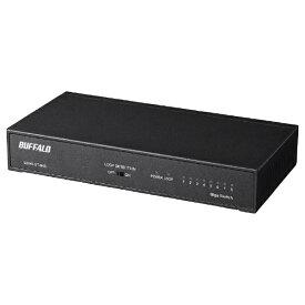 BUFFALO バッファロー ギガ スイッチングハブ Giga LAN HUB 8ポート 電源内蔵 背面マグネット LSW6-GT-8NS/BK ブラック[LSW6GT8NSBK]