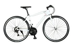 マセラティ 700×28C クロスバイク MASERATI AL-CRB7021 urban(マセラティ ホワイト/21段変速) 68107-12【組立商品につき返品不可】 【代金引換配送不可】