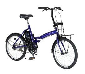 TRANSMOBILLY 【eバイク】20型 電動アシスト 折りたたみ自転車 TRANS MOBILLY CONVENIENT(ネイビー/シングルシフト) 92205-03【組立商品につき返品不可】 【代金引換配送不可】