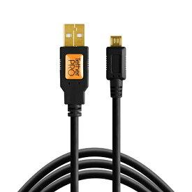 テザーツールズ Tether Tools CU5430BLK TetherPro USB 2.0 A Male to Micro-B 5-pin 15(4.6m) BLK CU5430BLK