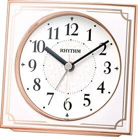 リズム時計 RHYTHM 目覚まし時計 【フィットウェーブA437】 ピンク 4RL437SR13 [アナログ /電波自動受信機能有]