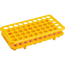 トラスコ中山 TRUSCO 樹脂製試験管立 Φ16.5X50本 オレンジ TTR-16.5X50