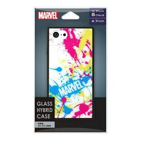 PGA iPhone 8/7/6s/6用 ガラスハイブリッドケース PG-DCS724WH スプラッシュロゴ/ホワイト