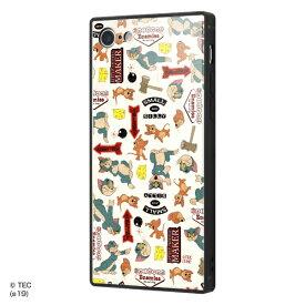イングレム Ingrem iPhone SE(第2世代)4.7インチ/ iPhone 8 / 7 /トムとジェリー/耐衝撃ガラスケース KAKU IQ-WP7K1B/TJ003 MIX