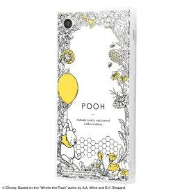 イングレム Ingrem iPhone SE(第2世代)4.7インチ/ iPhone 8 / 7 /『ディズニーキャラクター』/耐衝撃ガラスケース KAKU IQ-DP7K1C/PO004 『くまのプーさん/ボタニカル』_01