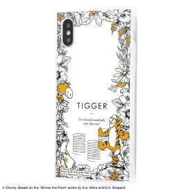 イングレム Ingrem iPhone XS / X /『ディズニーキャラクター』/耐衝撃ガラスケース KAKU IQ-DP20K1C/PO006 『くまのプーさん/ボタニカル』_03