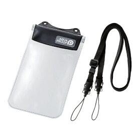 エレコム ELECOM スマートフォン用防水・防塵ケース オールクリア Sサイズ ブラック PCWPSAC01BK