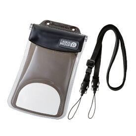 エレコム ELECOM スマートフォン用防水・防塵ケース 水没防止タイプ Lサイズ ブラック PCWPSF02BK