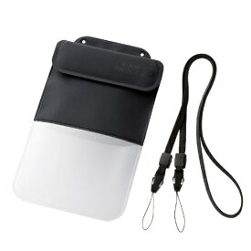 エレコム ELECOM スマートフォン用防水・防塵ケース ポケット付 XLサイズ ブラック PCWPSP03BK