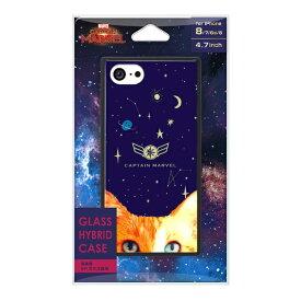 PGA iPhone 8/7/6s/6用 ガラスハイブリッドケース PG-DCS727NV キャプテン・マーベル/ネイビー