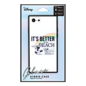 PGA iPhone 8/7/6s/6用 ガラスハイブリッドケース PG-DCS731MKY ミッキーマウス/ホワイト