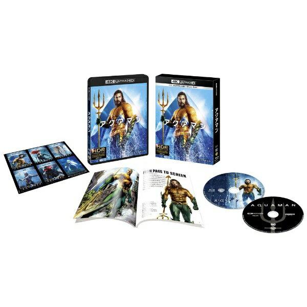 【2019年07月03日発売】 ワーナー ブラザース 【初回仕様】アクアマン <4K ULTRA HD&ブルーレイセット>(2枚組/ブックレット&キャラクターステッカー付)【Ultra HD ブルーレイソフト】