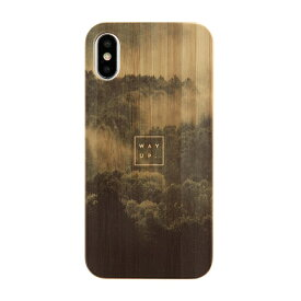 KIBACOWORKS キバコワークス [iPhone XS/X専用]kibaco BAMBOO RUBBER CASE 663-103545 WAY UP