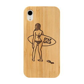 KIBACOWORKS キバコワークス [iPhone XR専用]kibaco BAMBOO RUBBER CASE 663-103866 STAY GOLD