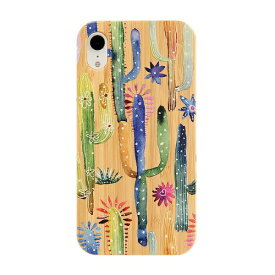KIBACOWORKS キバコワークス [iPhone XR専用]kibaco BAMBOO RUBBER CASE 663-103897 CACTI