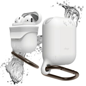 ELAGO エラゴ AirPods用防水ケース WaterProof Hang Case for AirPods ホワイト EL_APDCSSCWD_WH